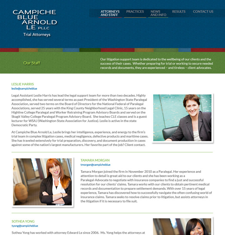 Campiche Blue Arnold Le Website Staff
