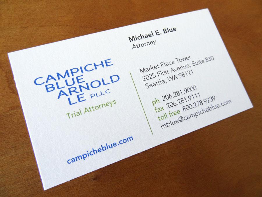 Campiche Blue Arnold Le Business Card