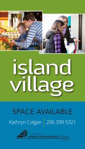 Island Village WIndow Sign