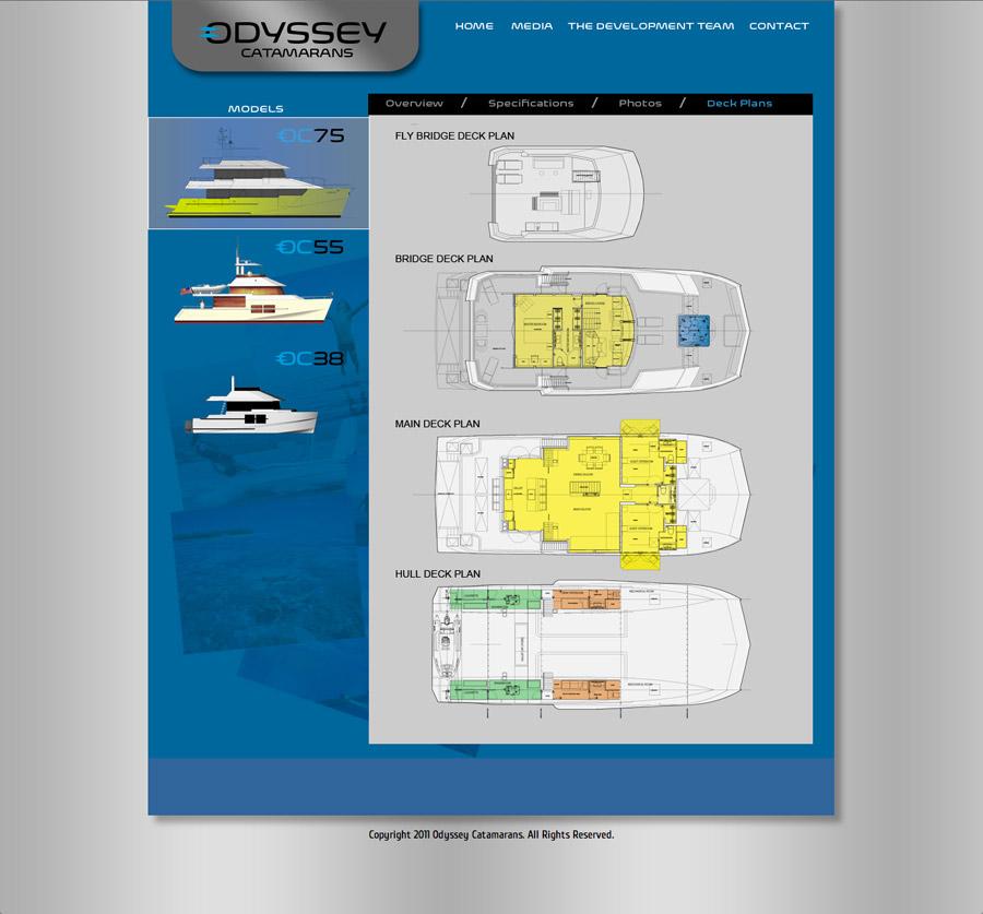 Odyssey Catamarans Website Deck Plans