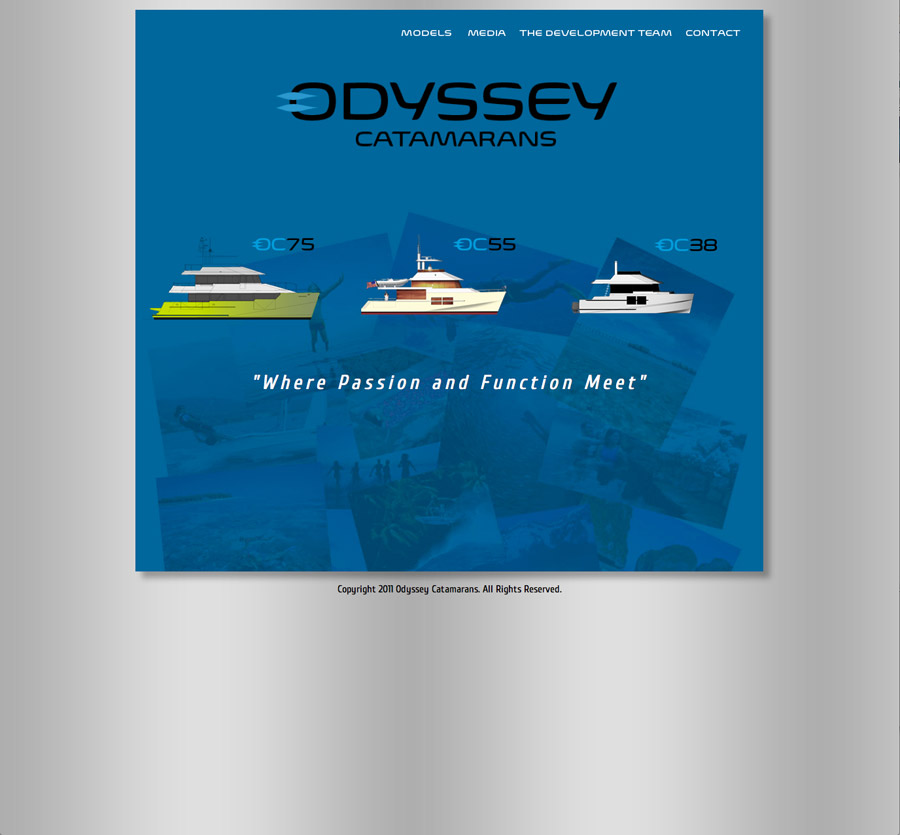 Odyssey Catamarans Website Landing Page