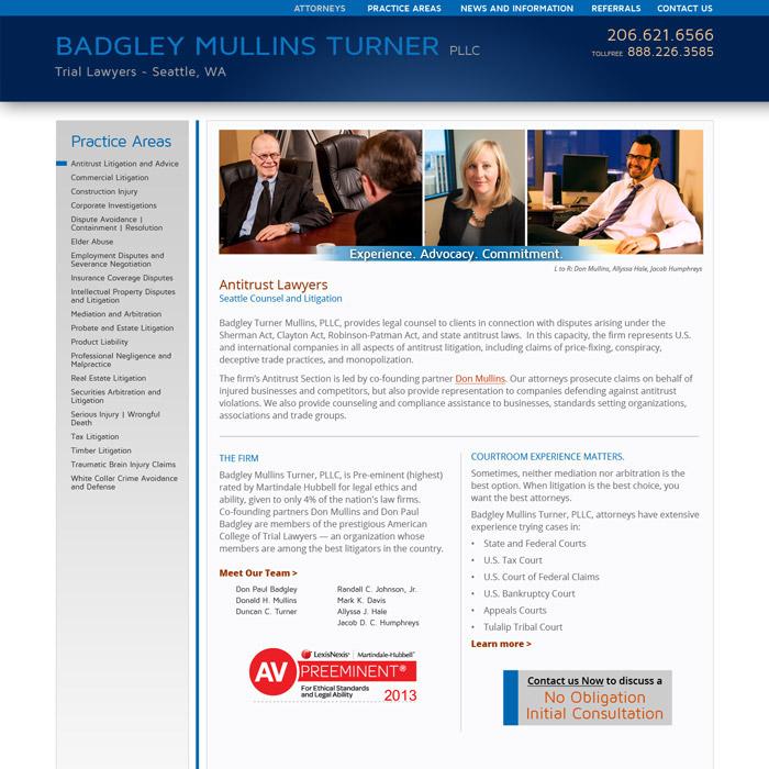 Badgley Mullins Turner Website Antitrust
