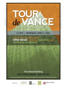 Tour de Vance 2016 poster by Level 29 Design
