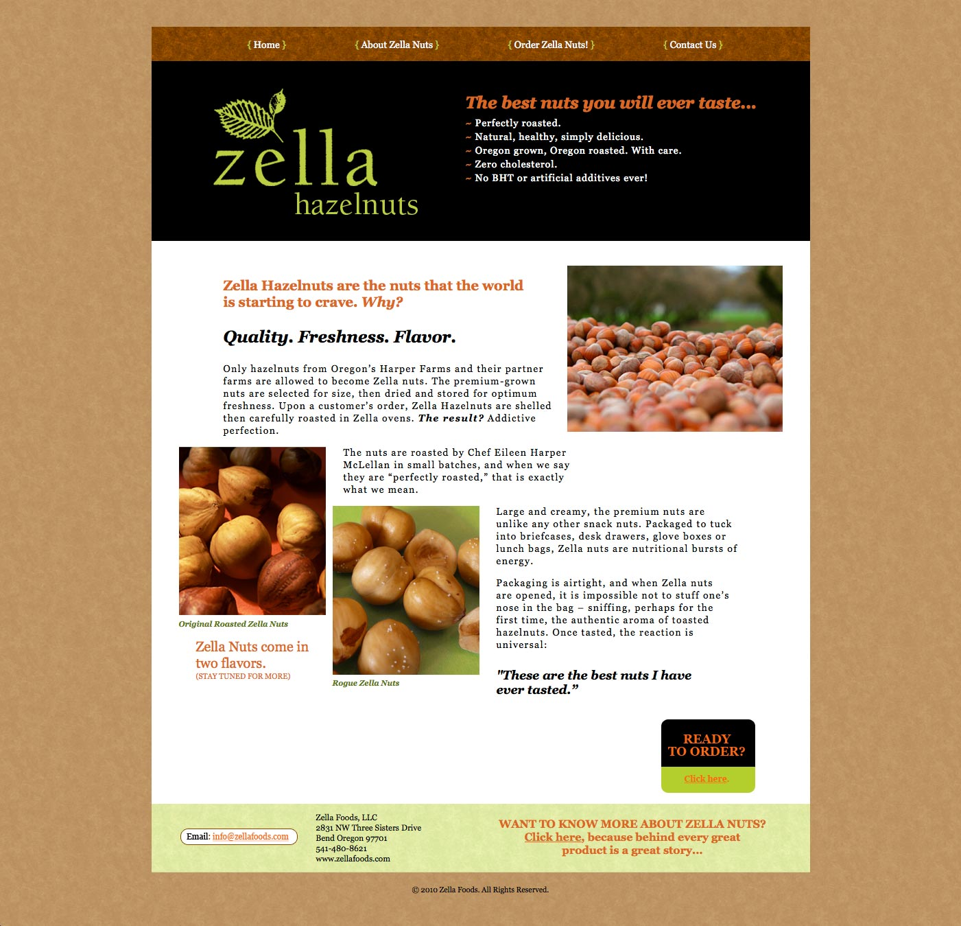 Zella Website Home Page