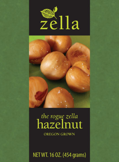 Zella Rogue Hazelnuts Packaging