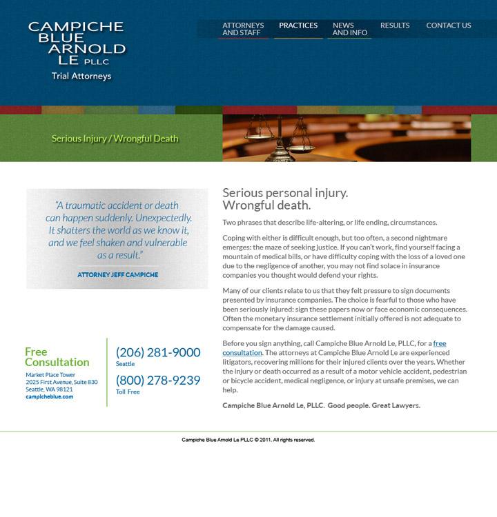 Campiche Blue Arnold Le Website Practice Page