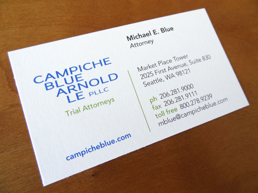 Campiche Blue Arnold Le Business Card