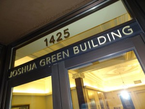 Joshua Green Building Exterior Signage