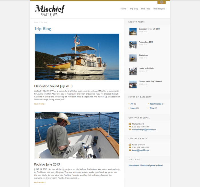 mvMishchief Website Trip Blog
